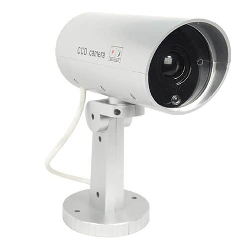 Indoor/Outdoor Motion Activated Dummy Camera With Flashing Red LED Light
