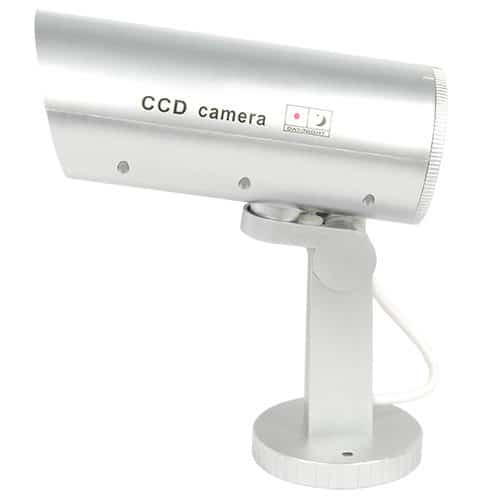 Indoor/Outdoor Motion Activated Dummy Camera With Flashing Red LED Light Side