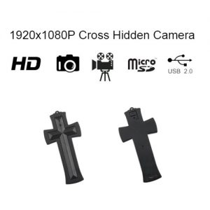 Cross Hidden Spy Camera with built in DVR Front - Back