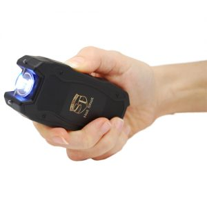 Hot Shot stun gun with flashlight and Battery Meter Black Use