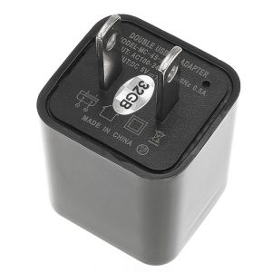 USB Charger Hidden Spy Camera with Built in DVR Bottom