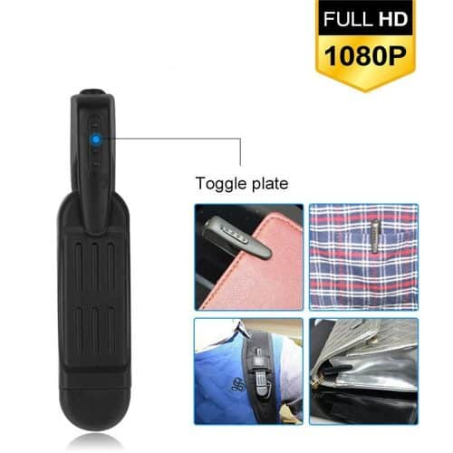 Pocket Clip Hidden Spy Camera with Built in DVR Placement