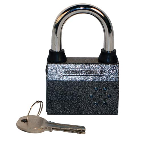 Small Alarmed Padlock with Key