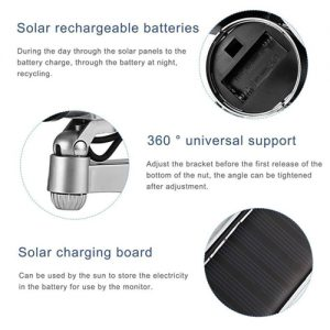 Solar Powered Dummy Camera with Flashing LED Features