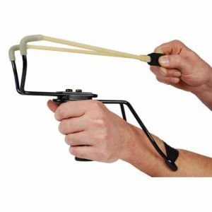 Large Professional High Velocity Slingshot In Action