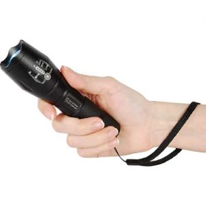 1,200 Lumen LED Self Defense Zoomable Flashlight Strap